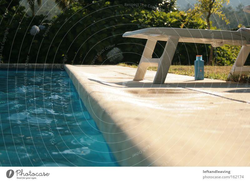 Water Summer Relaxation Meadow Garden Park Swimming pool Sunbathing Deckchair