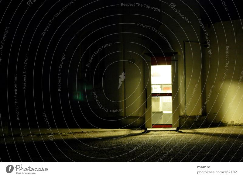 Loneliness Dark Sadness Moody Communicate Derelict Find Prison cell Phone box Accessible Night mood