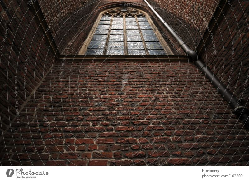 Dark Wall (building) Window Stone Sadness Wall (barrier) Building Religion and faith Fear Architecture Tall Church Threat Construction site Culture