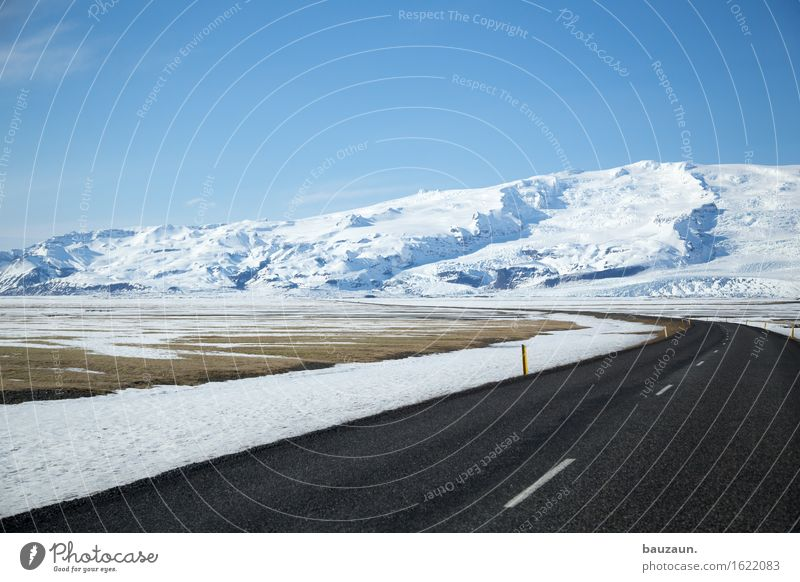 Nature Vacation & Travel Landscape Far-off places Winter Mountain Cold Environment Street Snow Freedom Tourism Transport Ice Earth Trip