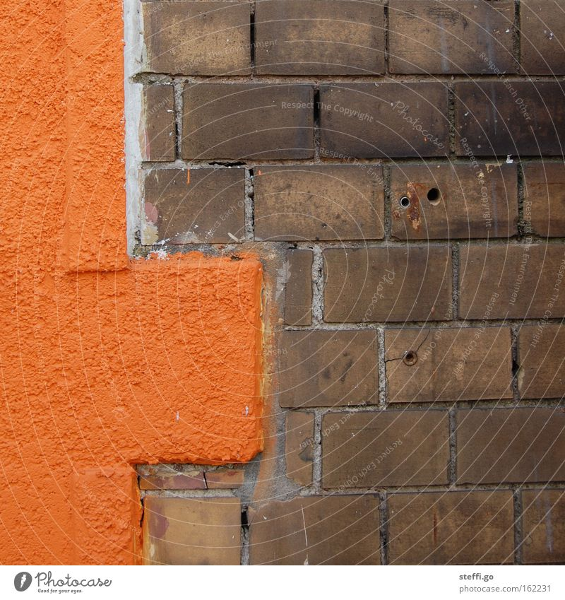 Old City Wall (building) Building Wall (barrier) Stone Exceptional Brown Facade Orange Modern Change Retro New Manmade structures Brick