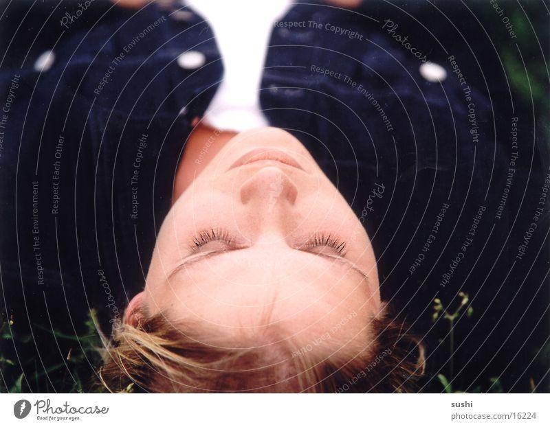Sleeping Meadow Woman Human being Nature