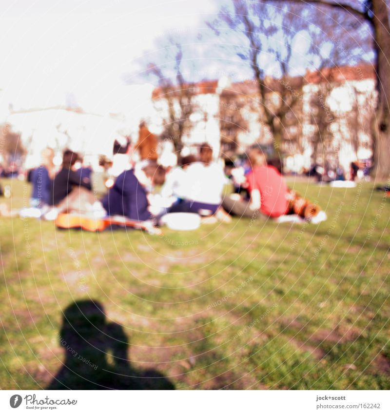 Boxhagener Platz (spring day) Human being Relaxation Joy Life Meadow Spring Group Friendship Park Sit Happiness Places Communicate Beautiful weather Lawn