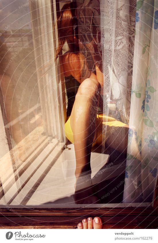0_14 Human being Summer Yellow Colour Window Feet Legs Hair Living or residing Photographer Curtain Breeze Profession