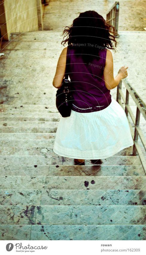 lisbon story Stairs Walking Running Haste Handrail Banister Marble Stone Stone steps Lisbon Woman