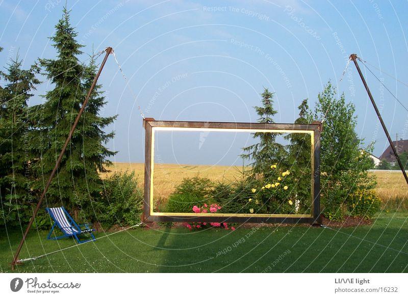 Framed landscape Summer Arts and crafts