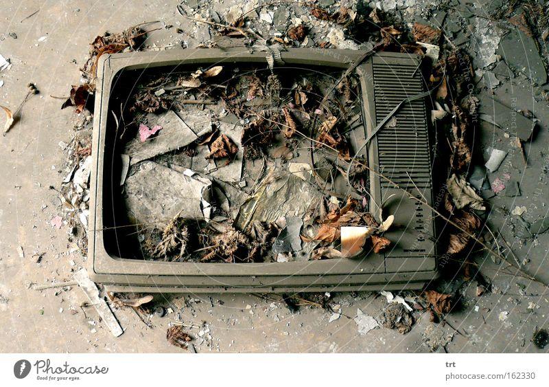 Television Broken Destruction Ground Trash Death Screen