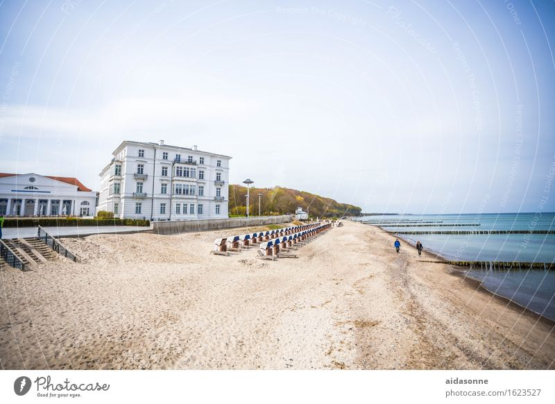 Heiligendamm Landscape Water Beach Baltic Sea Contentment Romance Attentive Dependability Serene Calm Modest Mecklenburg-Western Pomerania Germany Beach chair
