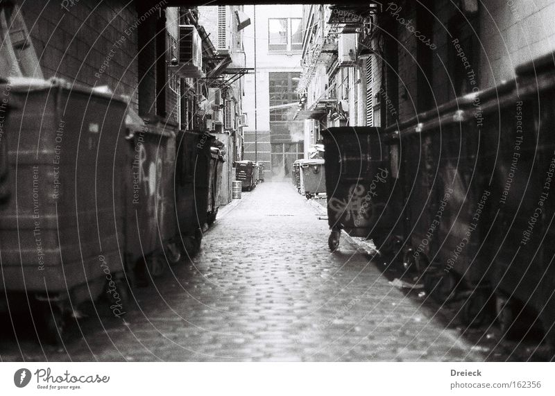 White Black Film industry Analog Traffic infrastructure Black & white photo Alley Scotland Great Britain Glasgow