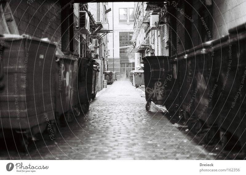 White Black Film industry Analog Traffic infrastructure Black & white photo Alley Scotland Great Britain Glasgow