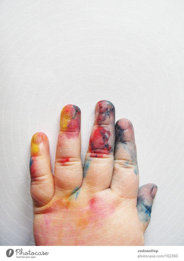 petits boudins colorés Art Expressionism Study Finger paint Hand Painter Child Infancy Children's room Communicate art director
