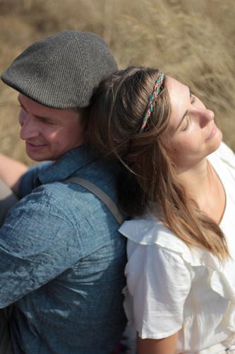Human being Woman Man Calm Adults Love Feminine Couple Together Friendship Dream Sit To enjoy Serene Trust Hip & trendy