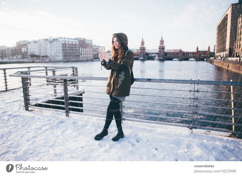 Human being Vacation & Travel Youth (Young adults) City Young woman Joy Winter 18 - 30 years Adults Cold Feminine Snow Berlin Lifestyle Leisure and hobbies