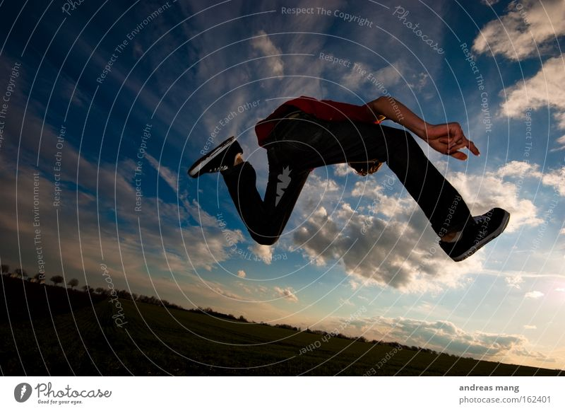 Sky Sun Joy Freedom Lanes & trails Jump Style Field Leisure and hobbies Flying Aviation Action To enjoy