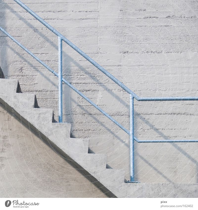 Bochum 14 o'clock 20 Concrete Wall (building) Stairs Downward Upward Statistics Stock market Shadow Illustration Square Detail Fear Panic Handrail Gastronomy