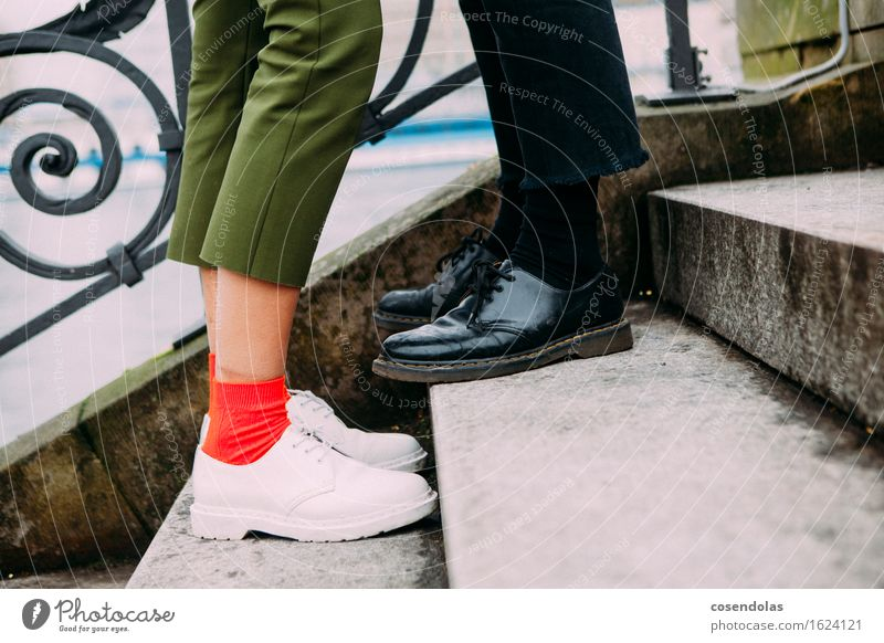 Human being Vacation & Travel Youth (Young adults) City Young woman Young man 18 - 30 years Adults Feminine Style Lifestyle Legs Fashion Couple Feet Masculine