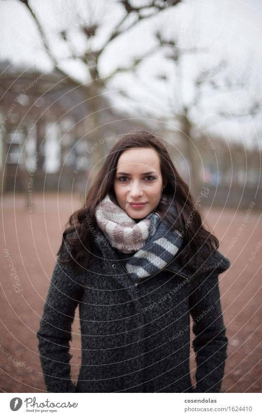 Human being Woman Youth (Young adults) Young woman Calm Winter 18 - 30 years Adults Feminine Lifestyle Moody Park Elegant Stand University & College student Brave