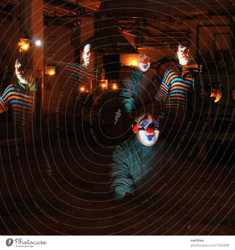 In the workshops of the carlauer production II Clown Mask Funny Sadness Joy Grief Dark Insecure Fear Creepy Hallowe'en Eerie Derelict Distress Hide face