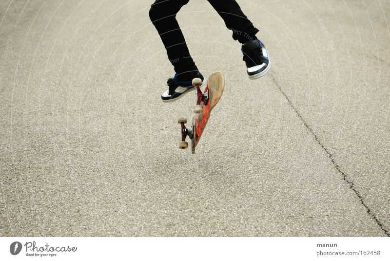 Youth (Young adults) Joy Street Movement Jump Success Asphalt Skateboarding Athletic Enthusiasm Practice Self-confidence