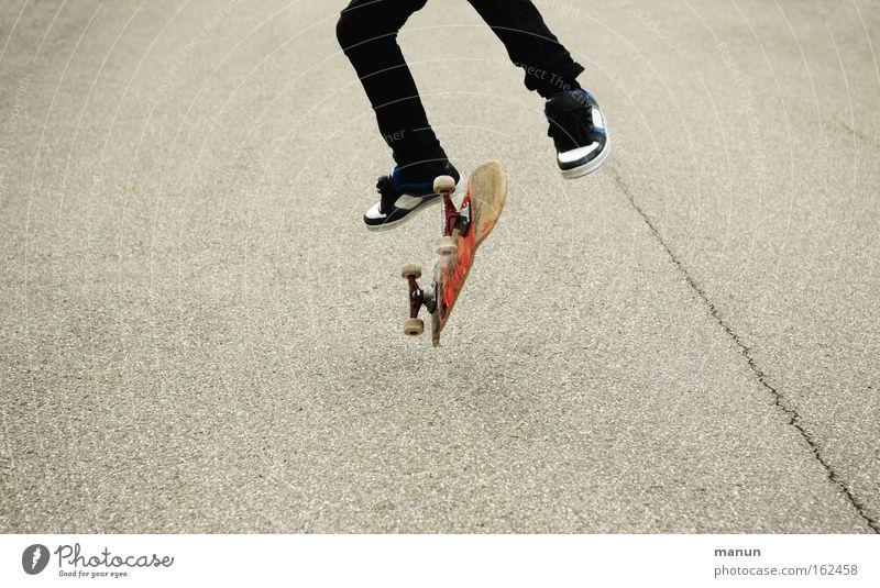 Youth (Young adults) Joy Street Movement Jump Success Asphalt Skateboarding Athletic Skateboard Enthusiasm Practice Self-confidence