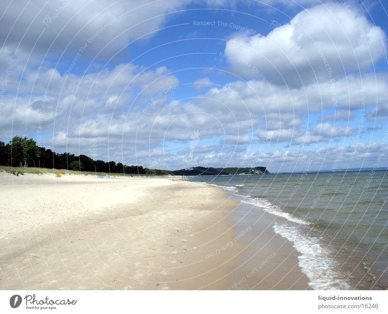 beach Rügen Beach Clouds Waves Water