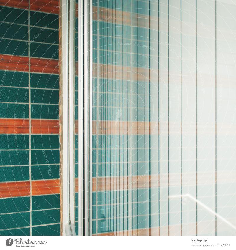 Green Room Orange Glass Glass Tile Window pane Reflection Slice Neighbor Disk Slat blinds Lamella