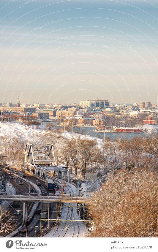 Stockholm Sweden Sverige Winter Town Skyline Snow Europe Exterior shot Ocean Nautical Vessel