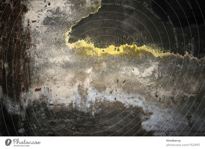 Yellow Dark Wall (building) Gray Wall (barrier) Art Background picture Dirty Concrete Design Construction site Uniqueness Manmade structures Factory Derelict