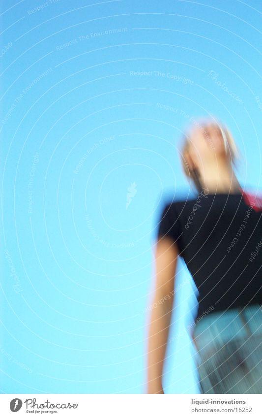Woman Sky Jump