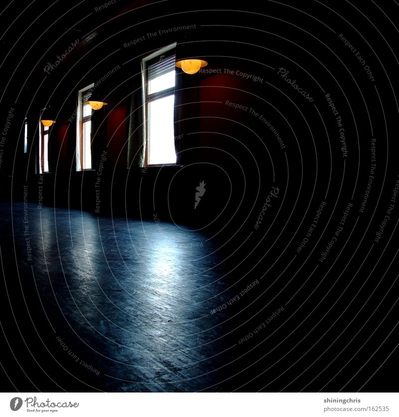 Calm Loneliness Window Lamp Car Window 3 Empty Peace Historic Parquet floor Wooden floor Hall Shaft of light