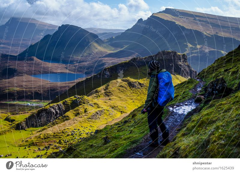 The Quiraing Vacation & Travel Tourism Trip Far-off places Freedom Mountain Hiking Human being Masculine Friendship 1 30 - 45 years Adults Nature Landscape