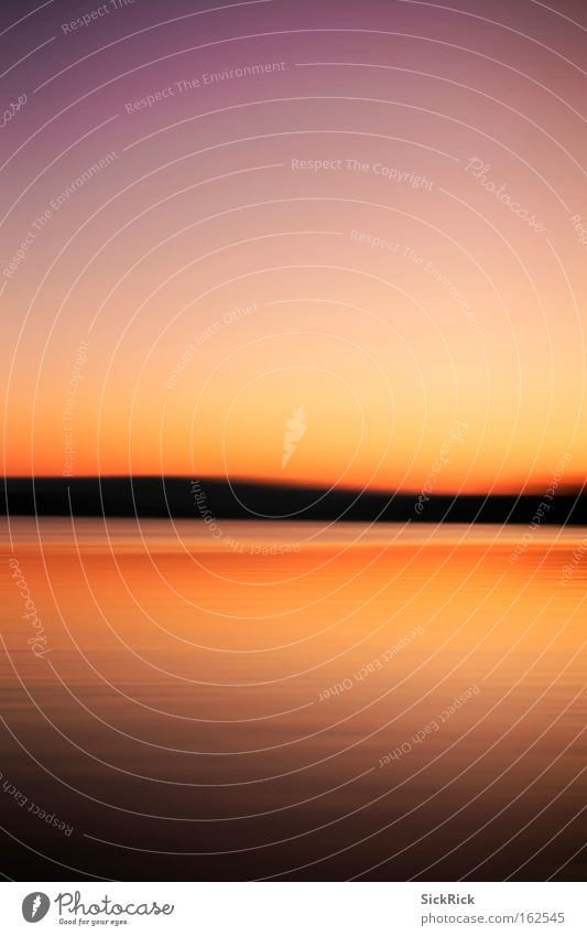 end Sunset Sky Water Lake Dynamics Calm End Witten Schematic Red Yellow Colour Summer Kemnade