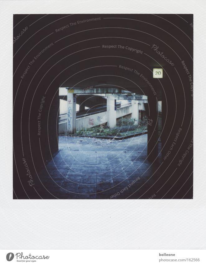 20 Tunnel Light Town Concrete Hideous Dirty Graffiti Backyard Polaroid Loneliness Highway ramp (entrance) Derelict Dangerous