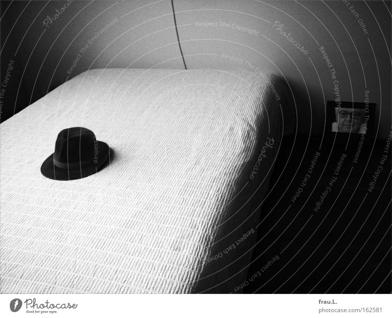 Dark Room Photography Grief Bed Image Hat Distress Goodbye Art