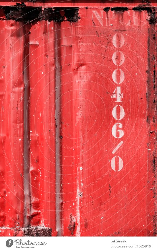 Red Iron Art Work of art Esthetic Digits and numbers Container Steel Rust Massive Multicoloured Hard Colour photo Exterior shot Close-up Detail Experimental