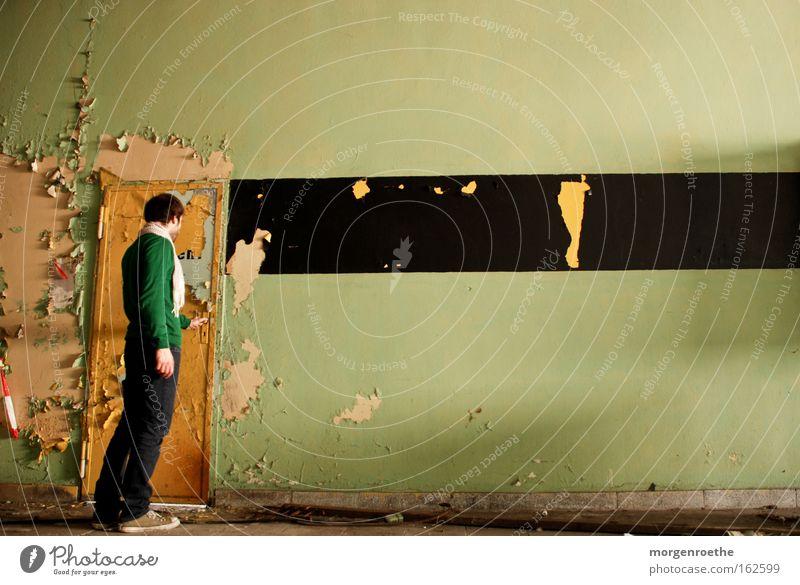 Old Calm Black Loneliness Yellow Wall (building) Dirty Door Transience Curiosity Derelict Joist