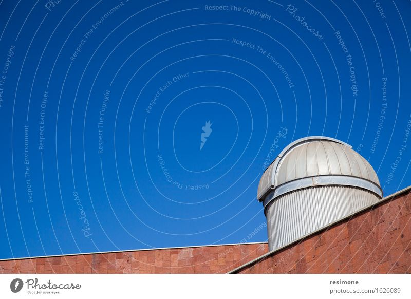 Blue sky telescope Sky White Landscape Mountain Life Dish Building Weather Technology Large Safety Information Spain Contact Search
