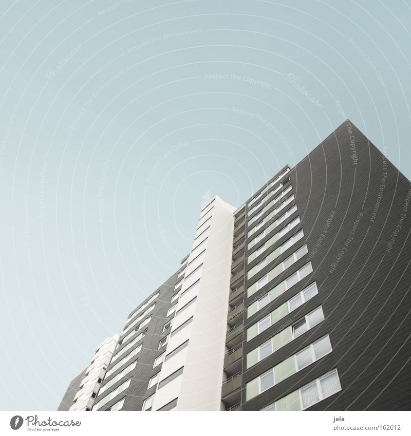 high house House (Residential Structure) Tall Large Sky Window Facade Line Town Architecture Living or residing
