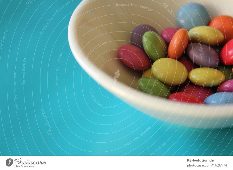many many round ... Food Candy Chocolate Nutrition Bowl Many Multicoloured Chocolate buttons Sweet Colour photo Interior shot Copy Space bottom