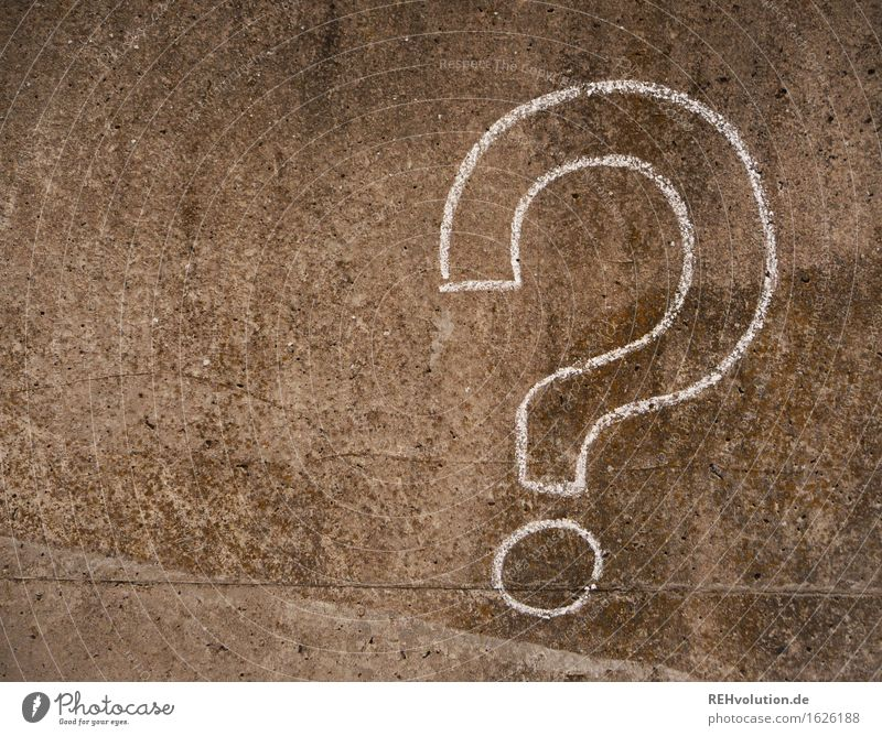 Gray Characters Creativity Idea Concrete Sign Painted Irritation Inspiration Ask Drawing Chalk Puzzle Doubt Question mark