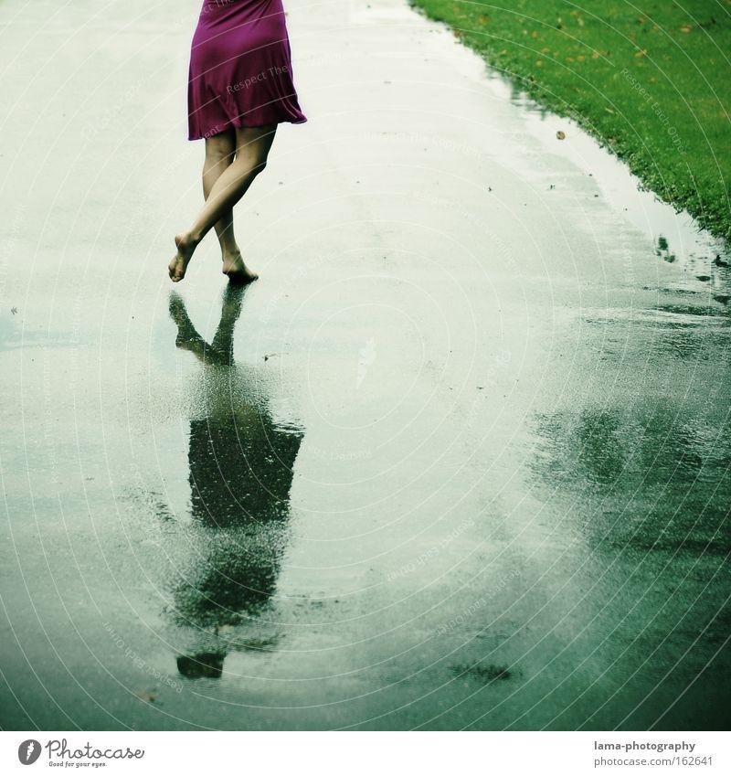 summer songs Woman Barefoot Dress Dance Rain Thunder and lightning Spring Wet Lanes & trails To go for a walk Light heartedness Optimism Freedom Joy Feet Summer