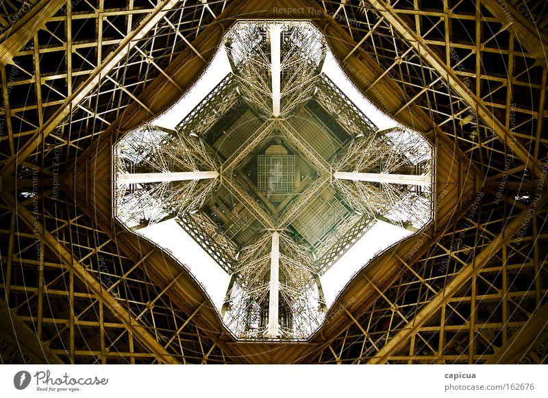 Eiffel Architecture Gold Future Paris Steel France
