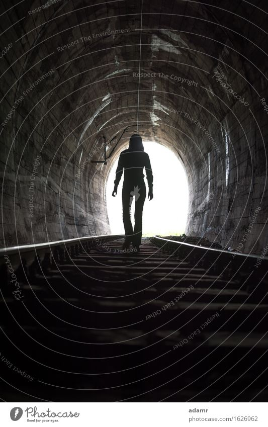 Person At End of Tunnel Dark Light Men Silhouette Loneliness Fear Leadership Shadow Escape Mystery Leaving The End Back Lit Corridor Exiting Man People Human
