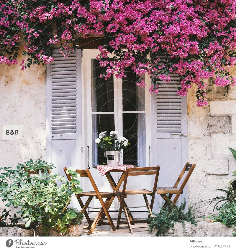 Vacation & Travel Summer House (Residential Structure) Window Facade Tourism Chair Hotel Balcony France Terrace Summery Shutter Vacation home Dream house