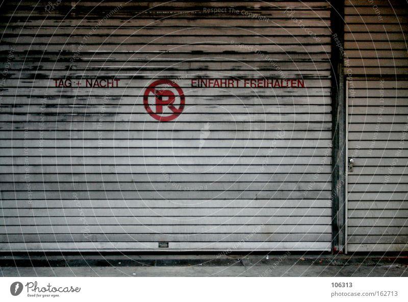 Old City Metal Door Metalware Store premises Derelict Bremen Load Letters (alphabet) R Roller shutter