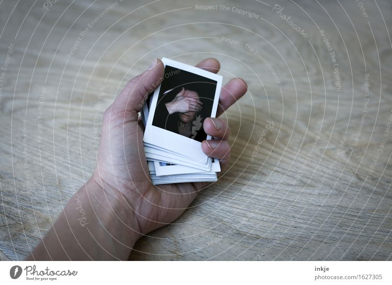 Played out Lifestyle Woman Adults Face Hand 1 Human being Photography Polaroid Emotions Moody Truth Refrain Reluctance Guilty Shame Remorse Inhibition Variable