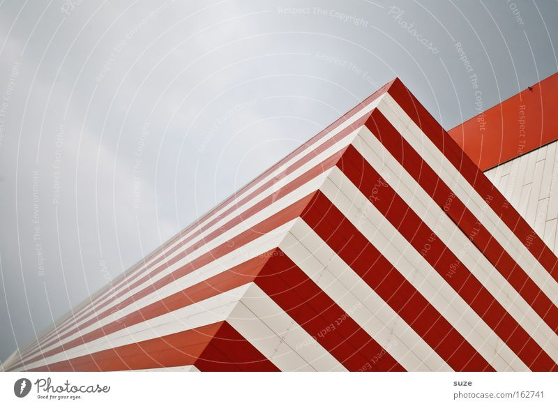 Russian Zebra Stripe Joist Corner House (Residential Structure) Corner building Red White Exchange Window Structures and shapes Line Hypnotic Shadow Geometry