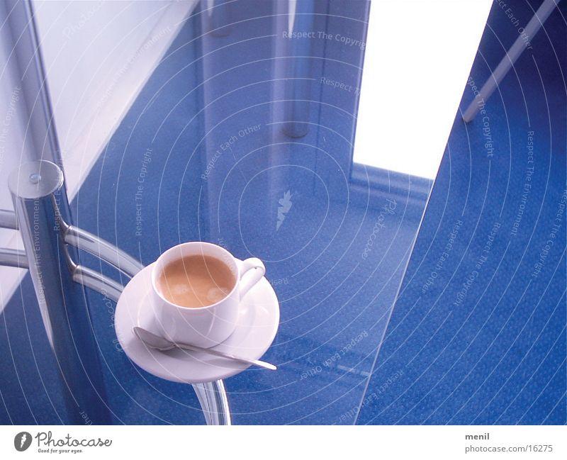 Window Table Coffee Cup Aromatic Coffee cup Saucer High-grade steel Teaspoon Coffee froth Glass table