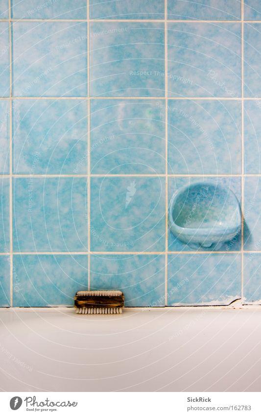 Blue Line Dirty Clean Bathroom Bathtub Tile Toilet Turquoise Personal hygiene Soap