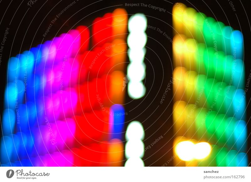 Hotel facade (Essen) Blur Background picture Light Colour Multicoloured Night life Party night Modern